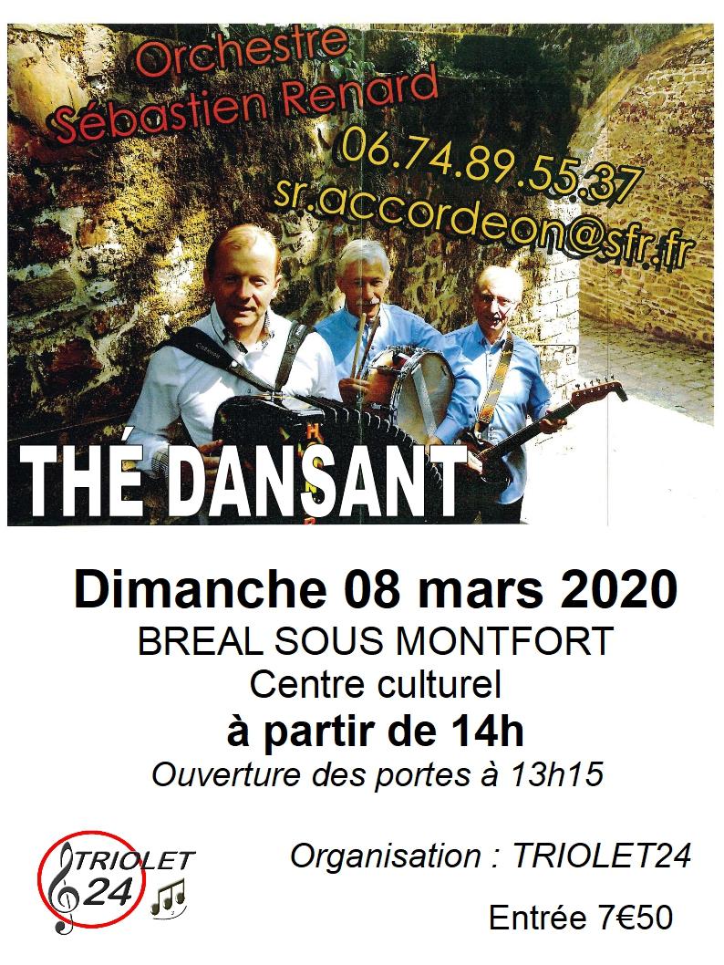 affiche thé dansant 08 mars 2020