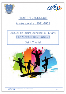 Projet pédagogique et règlement – La maison des jeunes (11-17 ans)