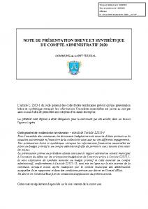 COMMUNE ANNEXE -NOTE PRESENTATION CA2020