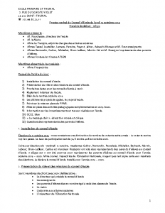 PV conseil d'école 15 10 2019
