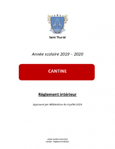 2019-2020 Règlement cantine
