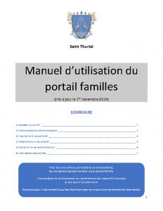 Manuel utilisation portail familles 01-11-19