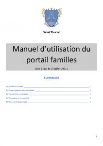 Manuel utilisation portail familles 2021-2022